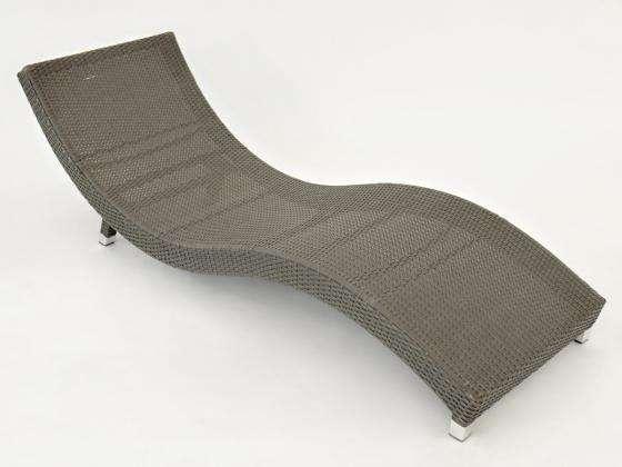 sonnenliege grau lounge liege gartenliege poly rattan. Black Bedroom Furniture Sets. Home Design Ideas