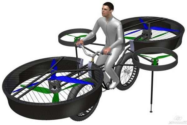 bicicletavoladora153538 - La primera bicicleta voladora (vídeo)