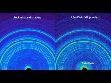 This side-by-side comparison shows<br /> the X-ray diffraction patterns of two<br /> different samples collected from the<br /> Martian surface by NASA&#39;s Curiosity<br /> rover.<br /> Image credit: NASA/JPL-Caltech/Ames&nbsp;&nbsp;<br /> <a href='http://www.nasa.gov/mission_pages/msl/multimedia/pia16832.html' class='bbc_url' title='External link' rel='nofollow external'>&#8250; Full image and caption</a>