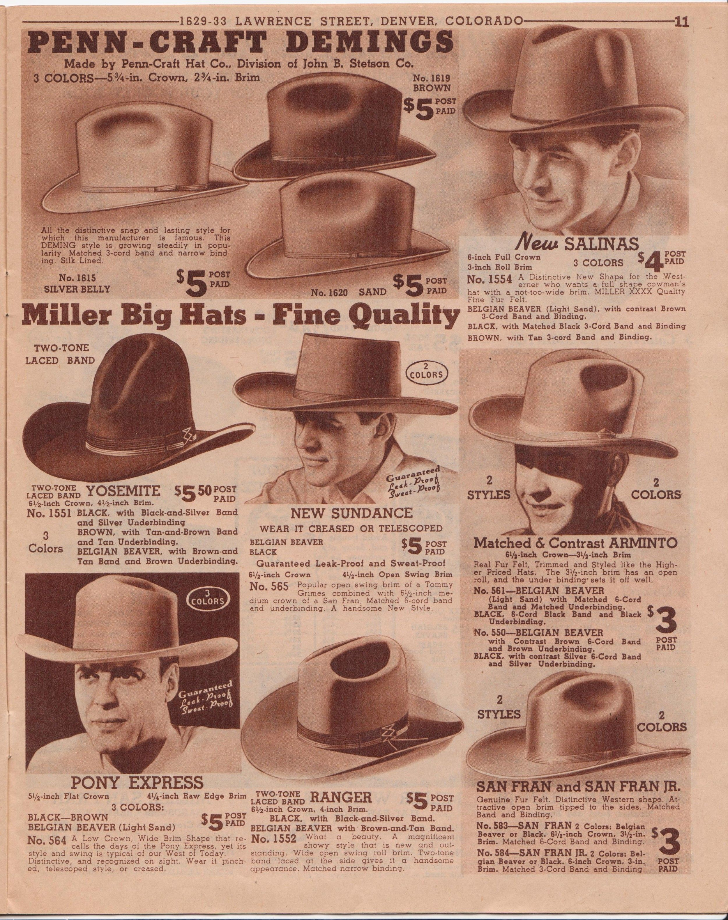 fbe4ce44 Miller-Stockman Catalogs | Page 2 | The Fedora Lounge