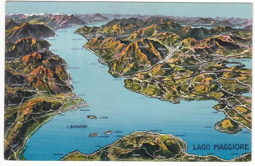 Cartina Stradale Lago Maggiore.Lago Maggiore Verbania Cartina Geografica F To P 31915 Ebay